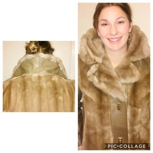 Dubrowsky and Joseph tissavel tan faux fur coat